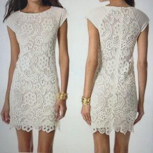 Rebecca Taylor white lace dress, size US 0